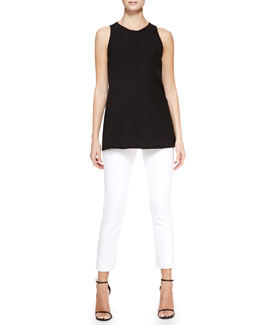 Lela Rose Seamed Tank & Cropped Catherine Pants