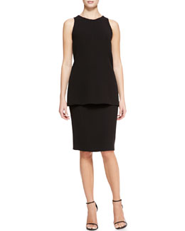 Lela Rose Seamed Tank & High-Waist Pencil Skirt