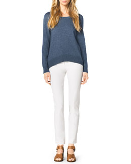 Michael Kors  Arch-Hem Knit Sweater & Stretch-Twill Zipper Pants