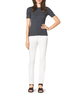 Michael Kors  Ribbed Knit Top & Stretch Twill Skinny Pants