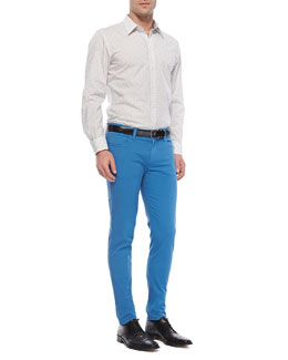 Dolce & Gabbana David Thin-Stripe Sport Shirt & Garment-Dyed Pants