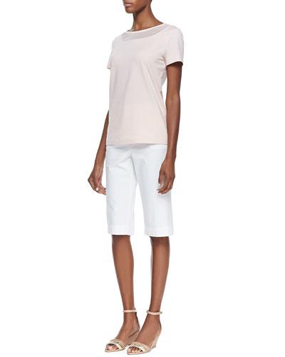 Lafayette 148 New York Short-Sleeve Tee & Bermuda Shorts