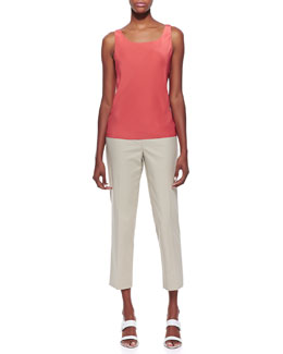 Lafayette 148 New York Silk Lined Tank Top & Metro Bleecker Cropped Pants