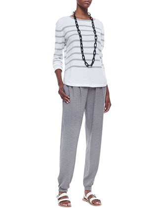 Organic Cozy Striped Top & Organic Cotton and Hemp Twist Jersey Pants ...