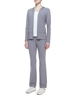 Eileen Fisher Organic Stretch Hooded Jacket & Pants, Petite