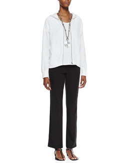 Eileen Fisher Organic-Cotton Hooded-Wedge Cardigan, Organic-Cotton Stretch Tee & Organic Cotton Yoga Pants