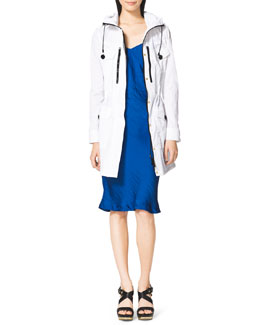 MICHAEL Michael Kors  Long Hooded Anorak & Bias-Cut Slip Dress