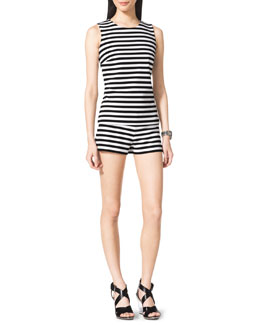 MICHAEL Michael Kors  Striped Sleeveless Ponte Top & Striped Pull-On Shorts
