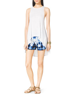 MICHAEL Michael Kors  High-Low Slub Tank & Printed Drawstring Boxer Shorts