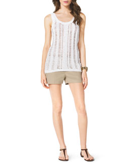 MICHAEL Michael Kors  Tape Yarn Tank & Stretch Clean Mini Shorts