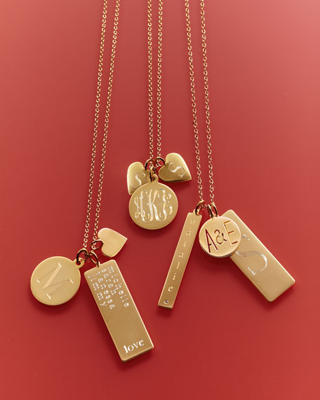 Sarah Chloe Sonya Layered Letter & Monogram Necklace,