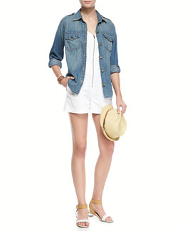 Current/Elliott The Perfect Denim Shirt & The Perfect Denim Shirt