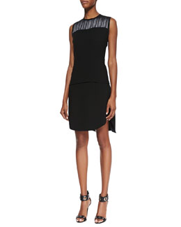 Elie Tahari Martina Jersey Sleeveless Blouse & Courtney Jersey Asymmetric Skirt