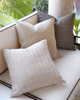 Aviva Stanoff Metallic Stripe Outdoor Pillows