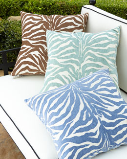 ELAINE SMITH Zebra-Stripe Outdoor Pillows