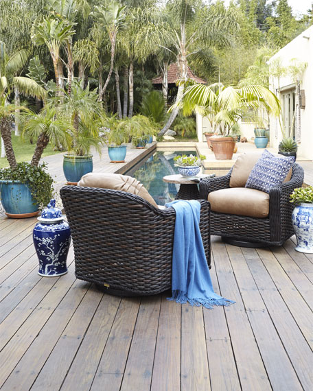 Madison Dark Outdoor Swivel Glider Lounge Chair