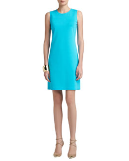 St. John Collection Milano Knit Jewel-Neck Trapeze Mod Dress & Tribal Pyramid Shape Cuff
