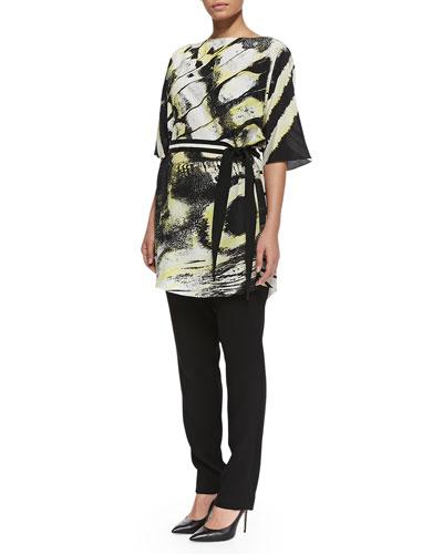 Marina Rinaldi Filomena Printed-Belted Jacket & Restante Skinny Pants, Women's