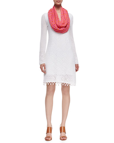 Lilly Pulitzer Athena Crochet Sweaterdress & Riley Infinity Printed Scarf