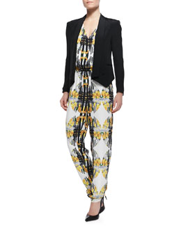 Rebecca Minkoff Becky Long-Sleeve Peaked-Hem Jacket & Mara Relaxed Fit Jumpsuit