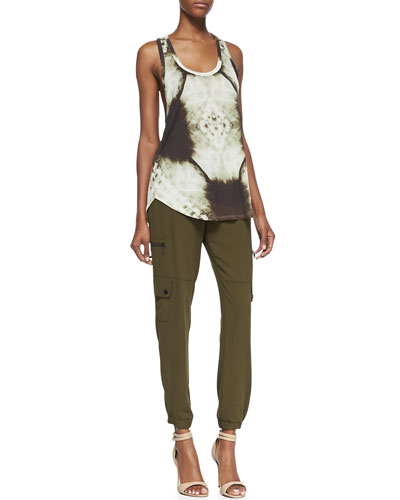 Haute Hippie X-Ray Printed Boyfriend Tank and Easy Drawstring Cargo Pants