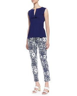 kate spade new york luma sleeveless top with bow & broome street floral capri pants