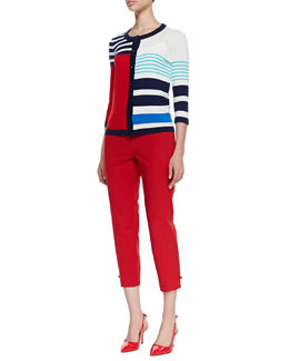 kate spade new york ollie colorblock cardigan & jackie capri pants