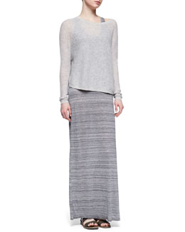 Vince Lightweight Loose Cashmere Sweater & Slub Racerback Maxi Dress