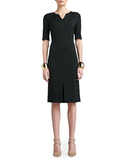 St. John Collection Seamed-Waist Knit Dress & Tribal Pyramid Shape Cuff