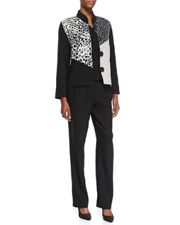Caroline Rose Rock Steady Combo Boxy Jacket, Cabo Crinkle Tank Top & Cabo Straight-Leg Pants, Petite