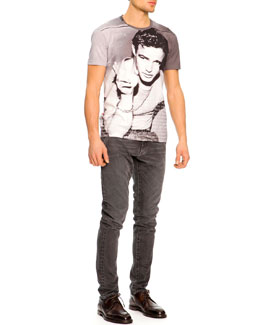 Dolce & Gabbana Marlon Brando Icon Tee & Faded & Distressed Jeans