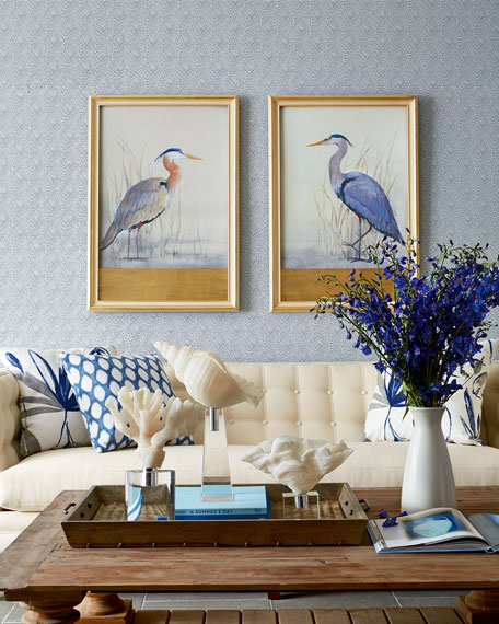 """Keeping Watch II"" (Left Facing) Heron Print"