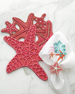 Kim Seybert Sea Star Placemat & Sea Odyssey Napkin