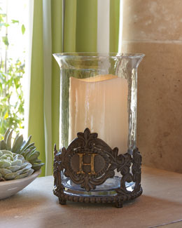 GG Collection Personalized Hurricane & Outdoor LED Candle