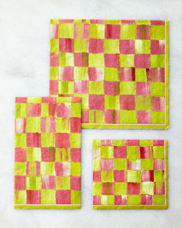 MacKenzie-Childs Tulip Check Paper Napkins