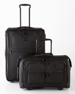 Tumi Black Alpha Luggage Collection
