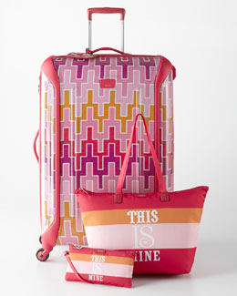 Tumi Jonathan Adler Travels With Tumi Pink Luggage Collection