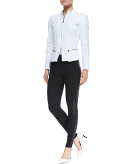 T Tahari Daughtry Long-Sleeve Jacket & Tamara Faux-Leather Leggings