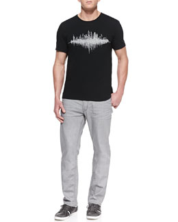 John Varvatos Star USA NYC Skyline Crewneck Tee & Bowery Denim Jeans
