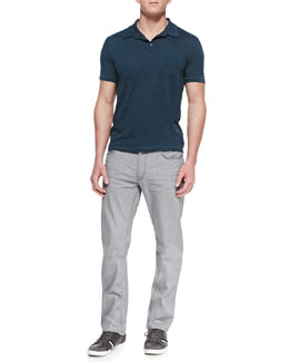 John Varvatos Star USA Patch-Pocket Short-Sleeve Polo & Bowery Denim Jeans