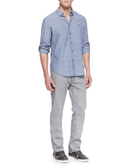 John Varvatos Star USA Striped Button-Down Shirt & Bowery Denim Jeans