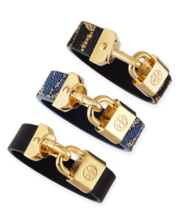Tory Burch Lock-Closure Bracelet
