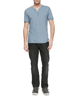 John Varvatos Star USA Snap Henley Tee & Bowery Denim Jeans