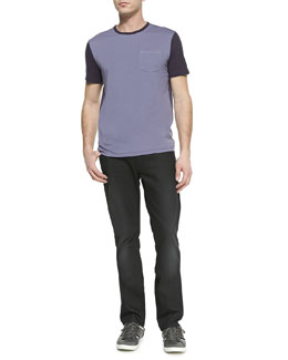 John Varvatos Star USA Colorblock Jersey Tee & Bowery Denim Jeans