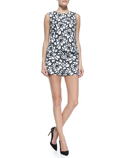 Diane von Furstenberg Betty Lace Tank & Naples Lace Shorts