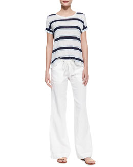Joie Layette Striped Slub Linen Tee & Irreplaceable B Linen Pants