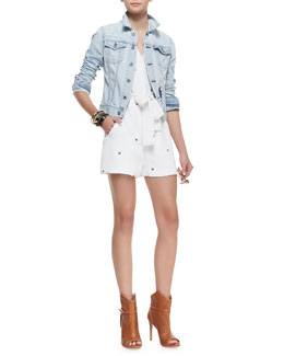 Opening Ceremony Robyn Denim Jacket & Daisy Printed Tie-Waist Jumpsuit