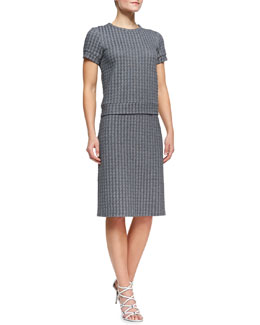Theory Ovar Tilma B Short-Sleeve Top and Ovar Austell Pencil Skirt