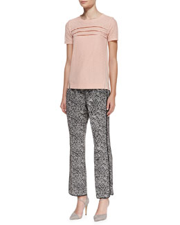 MARC by Marc Jacobs Addy Lace-Pattern Silk Top & Karoo Printed Silk Track Pants
