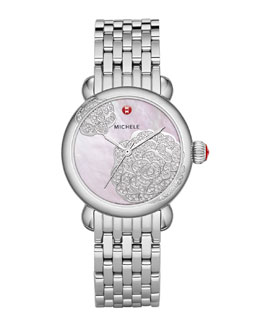 MICHELE Limited Edition CSX Jardin Diamond Dial Watch Head & 18mm CSX Bracelet Strap